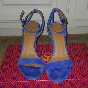 Blue heels Tory Burch